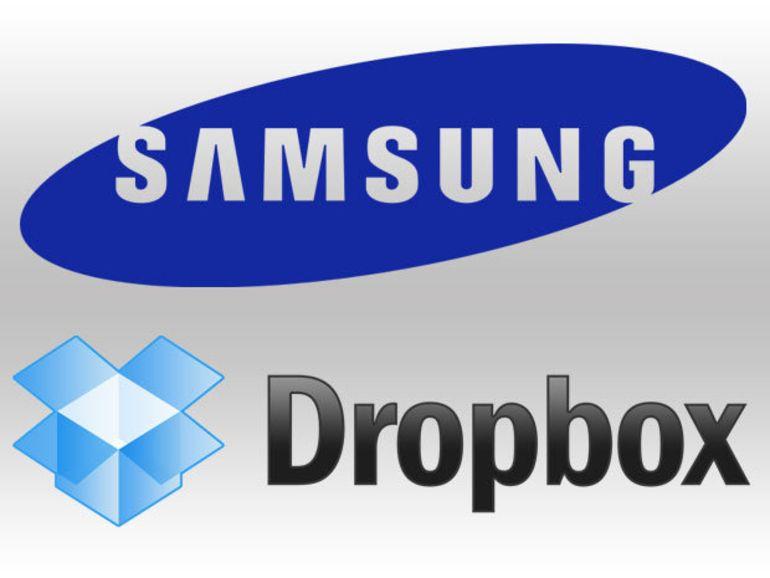 Dropbox intégré sur les APN, smartphones et PC Samsung