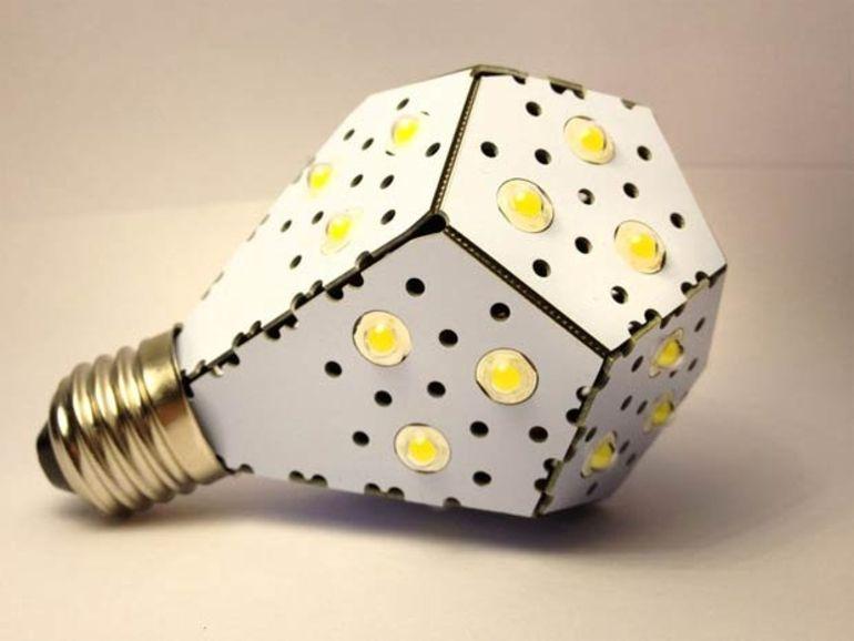NanoLight : l'ampoule LED façon cubisme