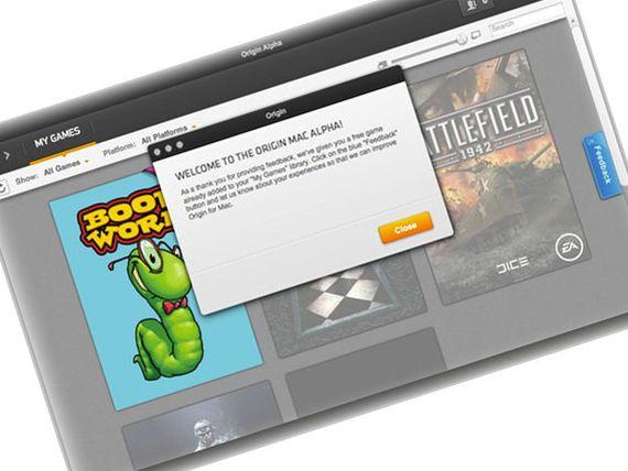 Origin d'Electronic Arts sur Mac en version alpha