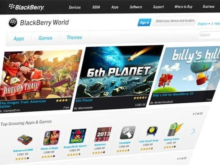Le Blackberry World proposera musique, séries et films