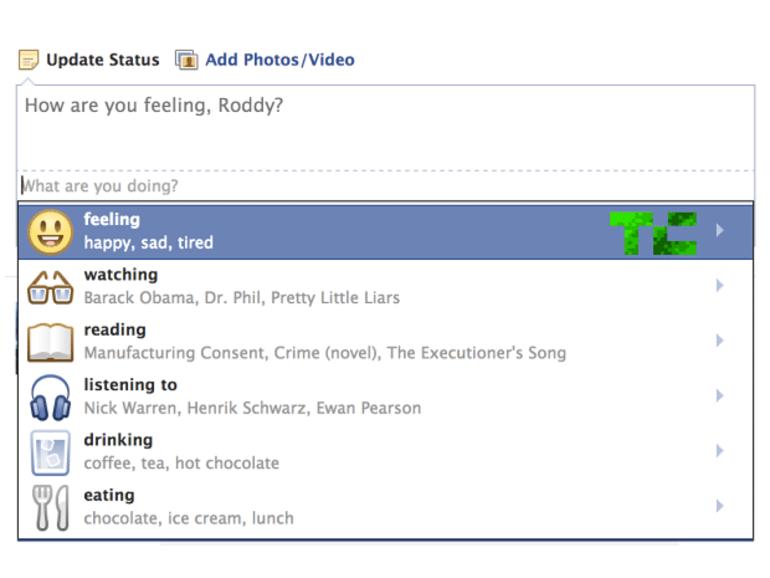 Facebook teste la représentation visuelle des émotions dans les statuts