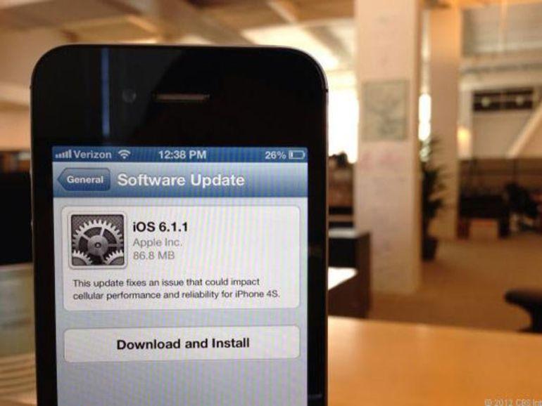 Apple publie iOS 6.1.1 d'iOS pour régler un bug avec l'iPhone 4S