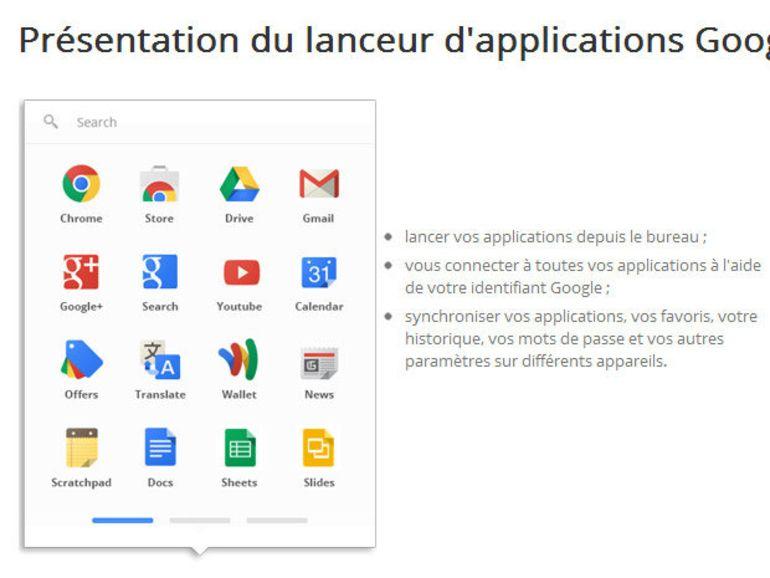 Chrome : un lanceur d'application dans le navigateur