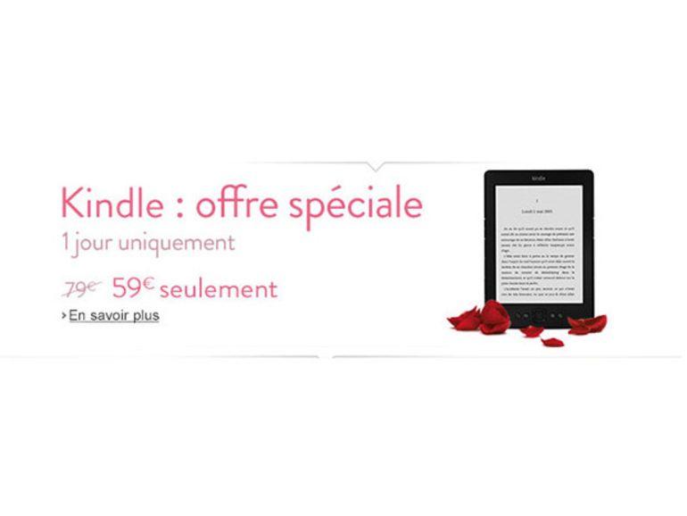 Offre spéciale St-Valentin : Kindle à 59 € pour la journée