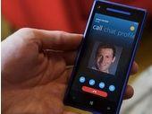 Skype pour Windows Phone 8 gère la caméra arrière des smarphones et la HD 720p