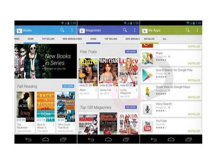 Google Play : Aperçu de la nouvelle version 4.0