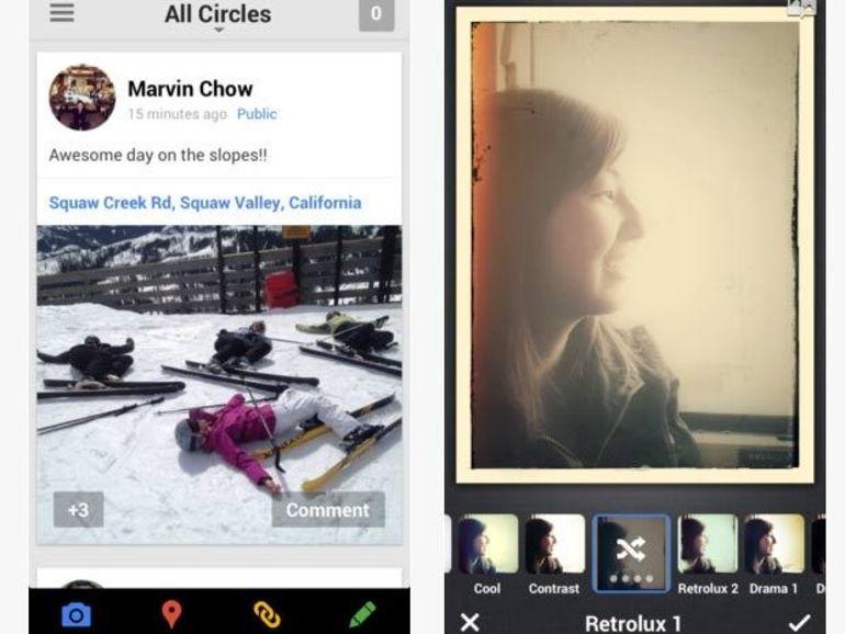 Google+ sur iOS et Android s'enrichit de filtres photos