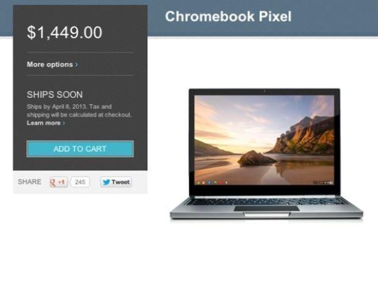 Le Chromebook Pixel 4G arrive le 8 avril aux USA