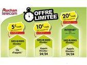 Auchan Telecom lance un forfait à partir de 5€/mois