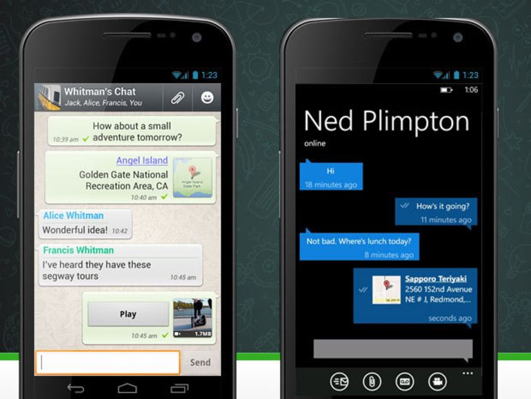 Les applications mobiles de chat plus populaires que les SMS
