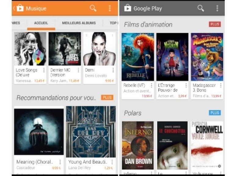 Le Google Play Store reprend des couleurs