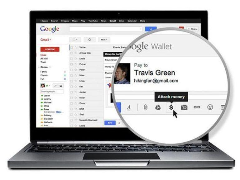 Envoyer de l'argent depuis un mail c'est possible avec Google Wallet