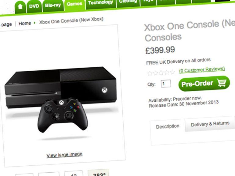 Un site anglais annonce la Xbox One pour novembre à 499 £ ?