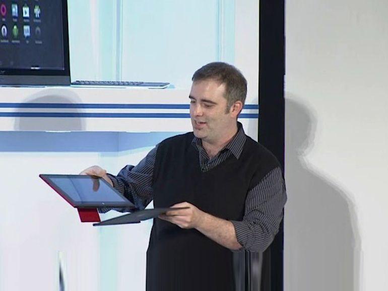 Intel : démo d'une tablette quad-core Android et Windows 8