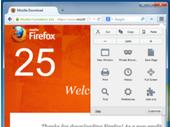 Firefox 25 : un nouveau design