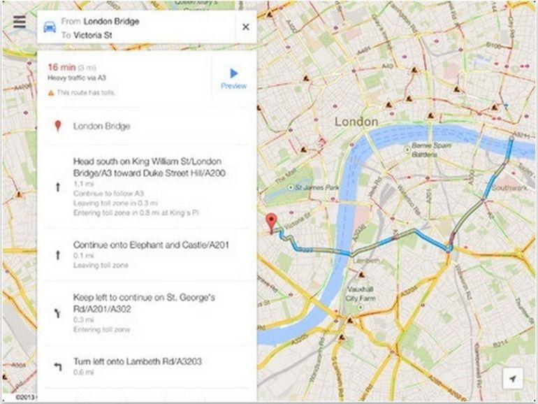 Google Maps 2.0 pour iOS s'adapte enfin à l'iPad