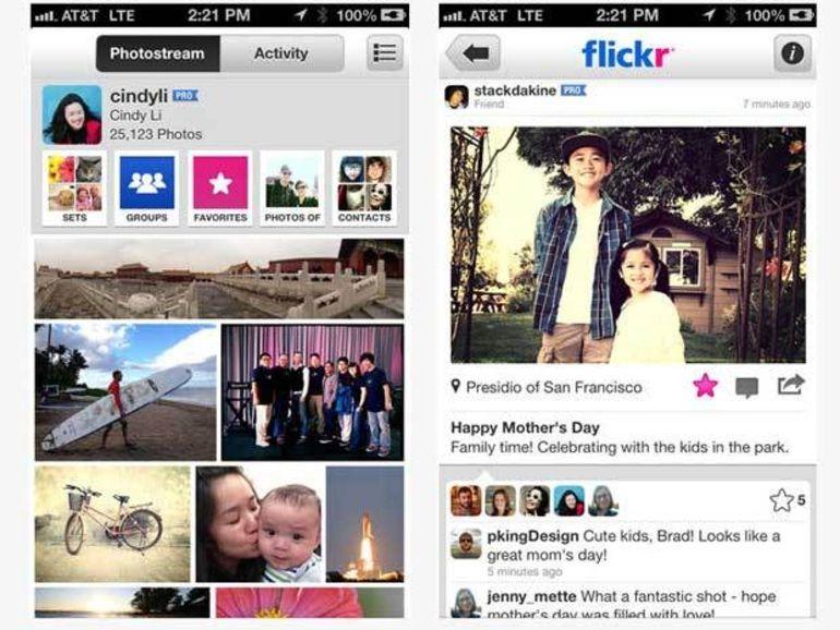 Flickr pour iOS : nouveaux filtres de prévisualisation et outils de retouche