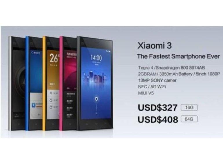 IFA 2013 : Xiaomi vient de révéler son nouveau porte-étendard, le Mi3