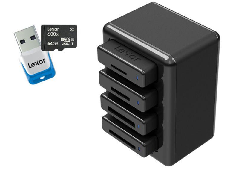 IFA 2013 : carte micro SDXC 600x et rack de lecture modulable pour Lexar