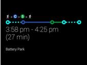 Google Glass : XE10 ajoute les itinéraires de transports en communs
