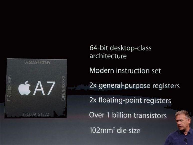 Qualcomm amende ses propos peu amènes sur le processeur A7 d'Apple