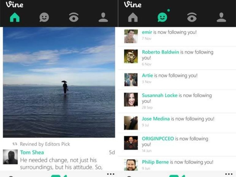 Vine débarque sur Windows Phone