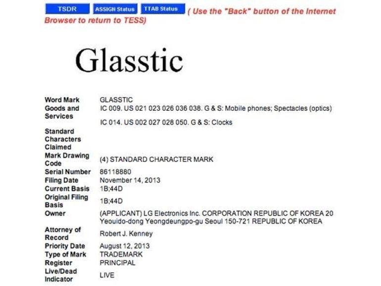 Glasstic : un nom pour les futures lunettes connectées de LG ?