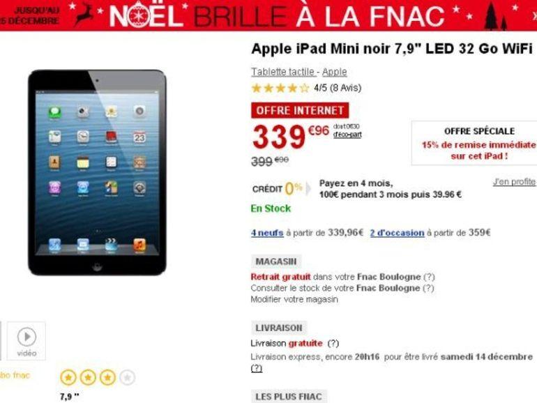 Bon plan de Noël : l'iPad Mini 32 Go sous les 340 € sur Fnac.com