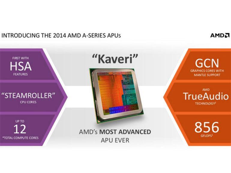 CES 2014 : AMD présente les APU Kaveri et virtualise Android dans Windows
