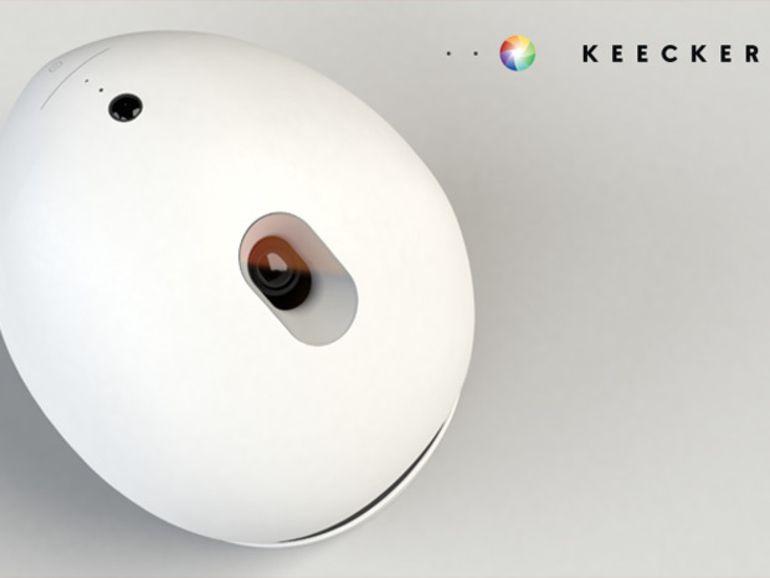 CES 2014 : un inventeur français présente le robot-projectionniste Keecker