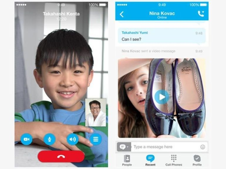 Skype 4.17 pour iOS améliore la synchronisation des messages et le système de notifications