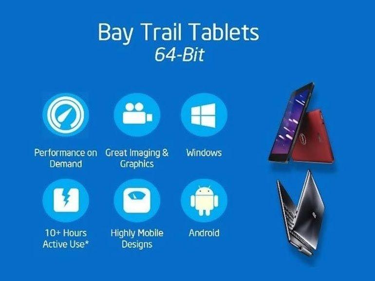 Les tablettes Android à puce Intel Atom arrivent au deuxième trimestre 2014
