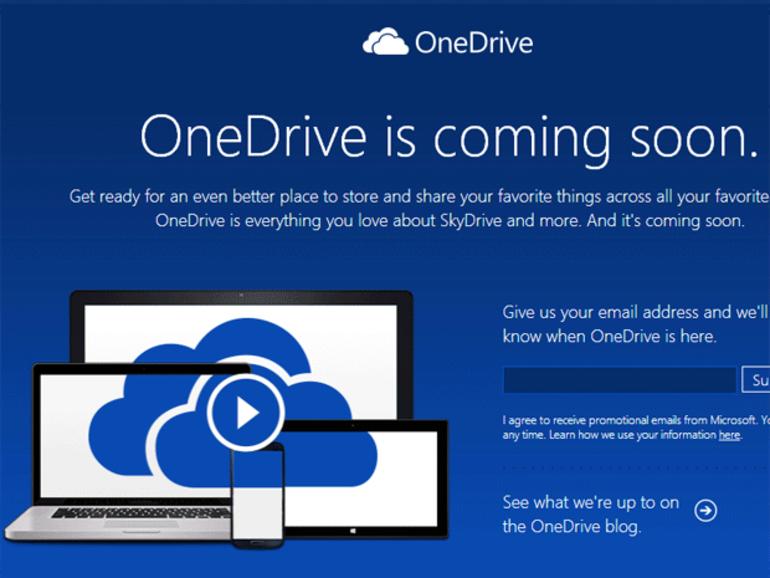 Microsoft SkyDrive change de nom pour OneDrive