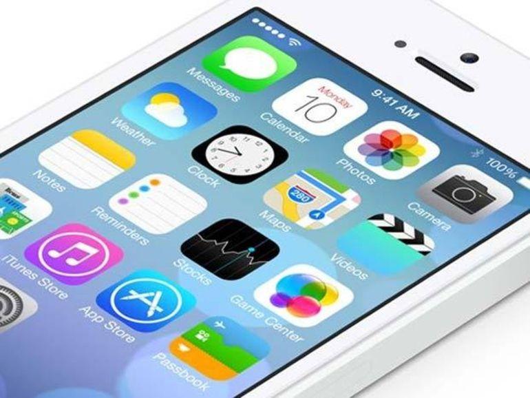 Apple fait passer iOS en version 7.0.5 pour les iPhone 5C et 5S