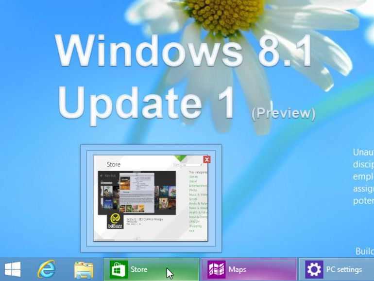 Mise à jour de Windows 8.1 : ce qui va changer en images