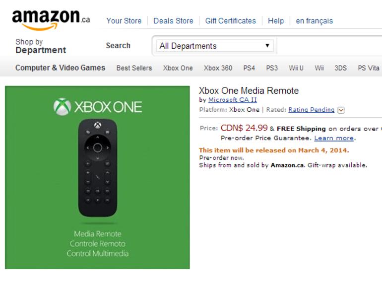 Microsoft devrait prochainement commercialiser une télécommande pour la Xbox One