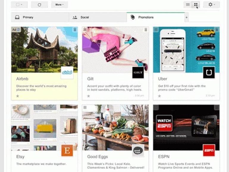 Gmail : l'onglet Promotion passe au tout-images