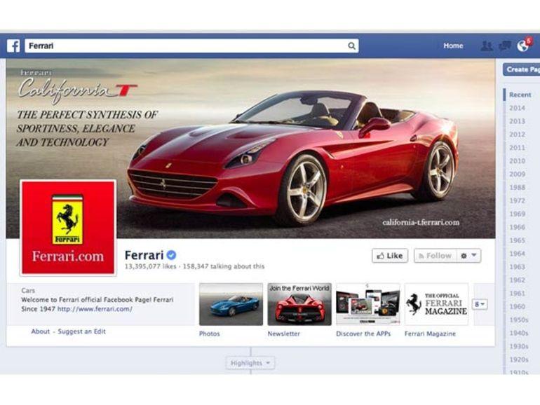 Entre Ferrari et le créateur de la page fan sur Facebook, le torchon brûle