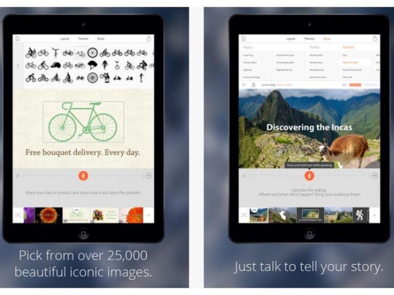 Adobe Voice : une application pour créer des présentations vocales sur l'iPad