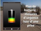 Infographie : mesures d'urgence pour économiser la batterie d'un mobile