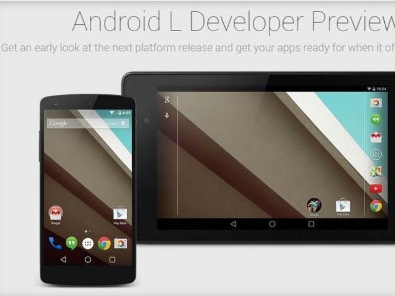 Google I/O 2014 : première apparition d'Android L
