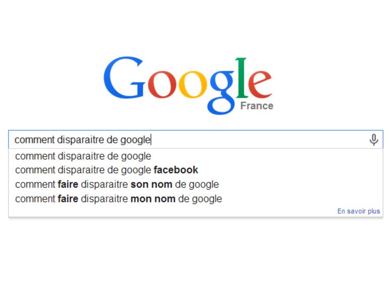 Google propose un formulaire pour disparaitre des recherches