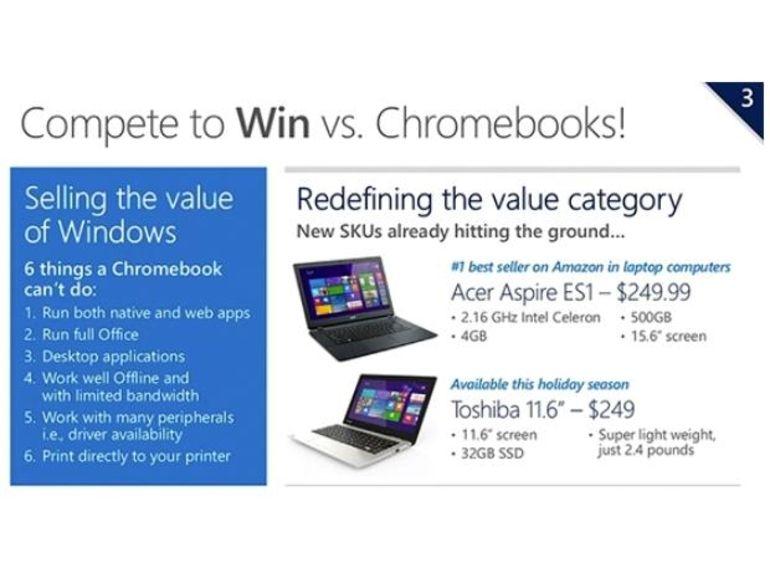 Des portables Windows 8 à 99$, la reconquête par le bas pour relancer Microsoft ?