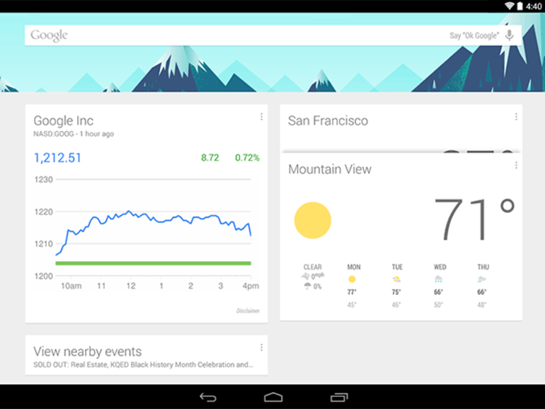 L'appli Android Google Now Launcher disponible sur le Play Store