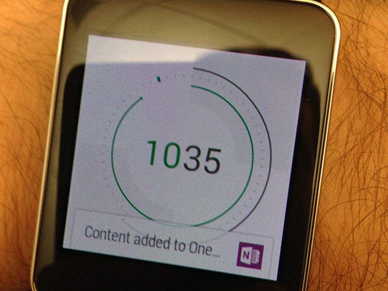 OneNote arrive sur les montres connectées Android Wear