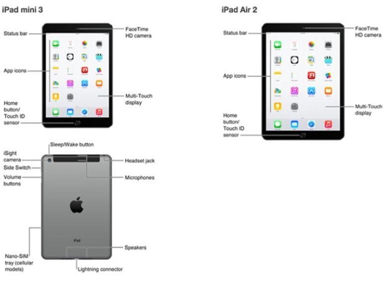 Les iPad Air 2 et iPad mini 3 en fuite sur l'App Store