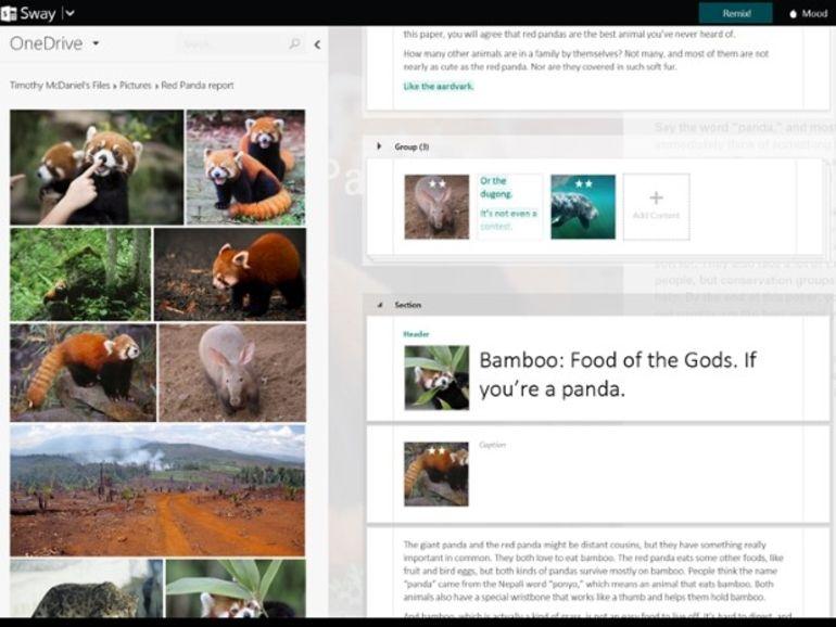 Microsoft dévoile son application Sway pour réaliser facilement des présentations riches en contenus