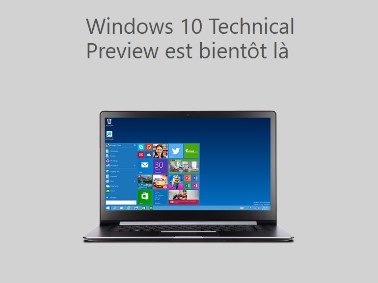 Télécharger Windows 10 Technical Preview