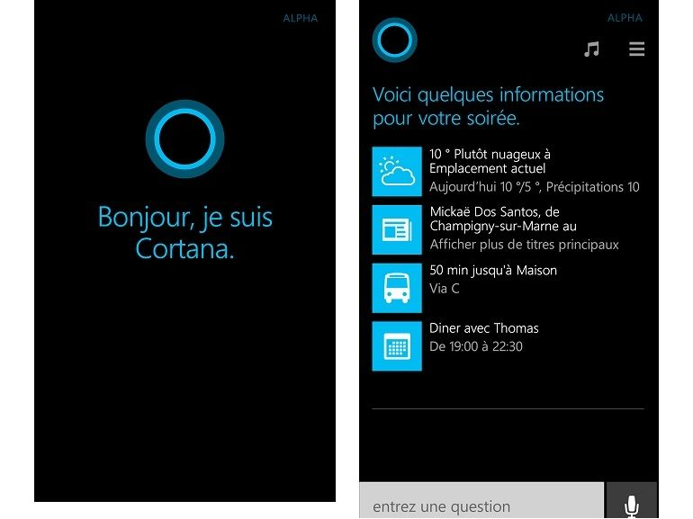 Cortana, le Siri de Microsoft s'essaie au français