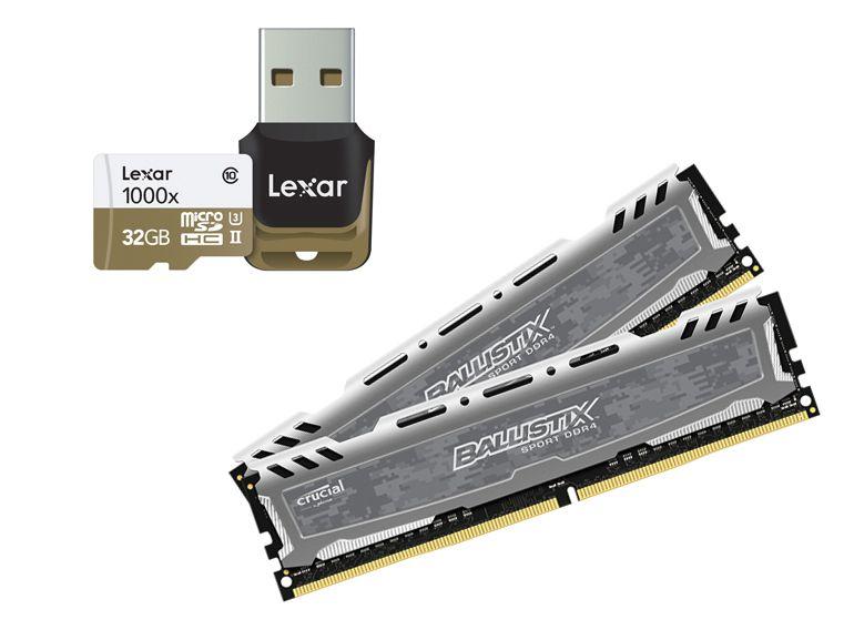 """CES 2015 : micro SD 1000x et module DDR4, Crucial """"flash"""" à tout va"""
